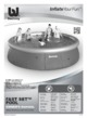 Mode d'emploi Bestway BW57018 Fast Set Piscine - Page 1